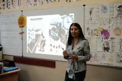 Мая Бочева - илюстратор на детски книжки, при учениците от 2 - Д клас