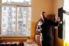 Шеф-готвач Таньо Шишков при учениците от 7 - А клас