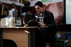 гл.ас.Васил Балтаджиев - уредник в Етнографския музей, при учениците от 7 - Б клас