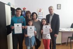 """Победители в областния кръг на """"Ключът на музиката"""" - Емили и Гери от ІV - Б клас и Борис от VІ - Б клас"""